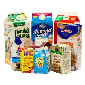 various types of beverage cartons