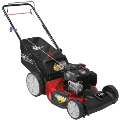 red Craftsman push lawn mower