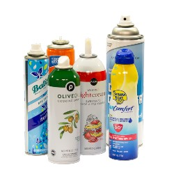 various aerosol spray cans