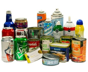 various types of metal cans