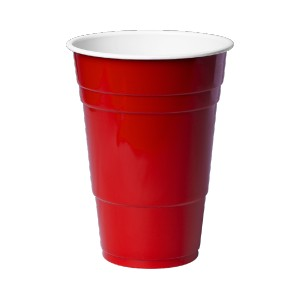red Solo type plastic cup