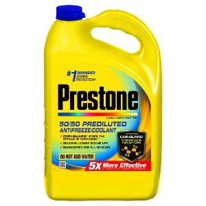 yellow plastic jug of antifreeze