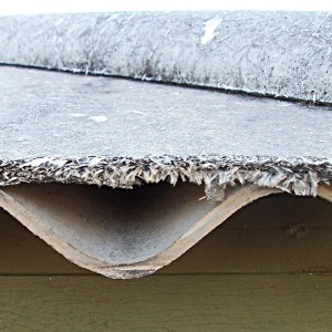 cutaway of an asbestos roof layer