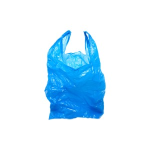 blue plastic grocery bag