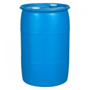 round blue plastic barrel