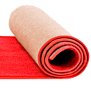 roll of red carpet
