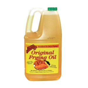 bottle of original frying oil