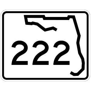 highway road sign for Florida 222