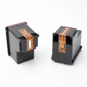 two black plastic ink cartridges