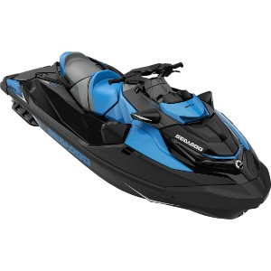 blue and black jet ski