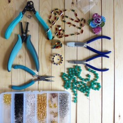jewelry pliers, beads and other jewelry making supplies