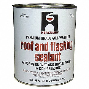 can of roof and flashing sealant