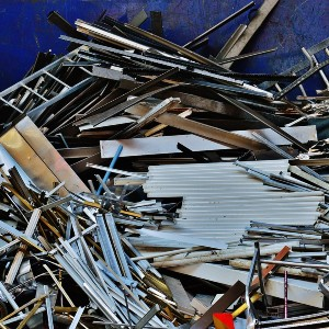 large pile of various types of scrap metal