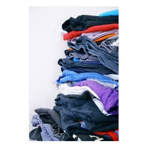 stack of clothes for donation