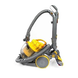 yellow Dyson vacuum cleaner